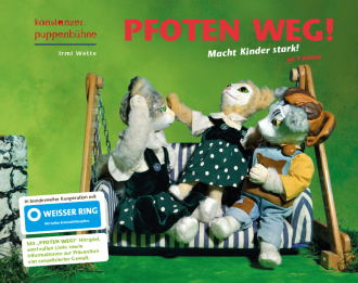 Plakat zu den Pfoten-weg-Aktionstagen der Konstanzer Puppenbühne