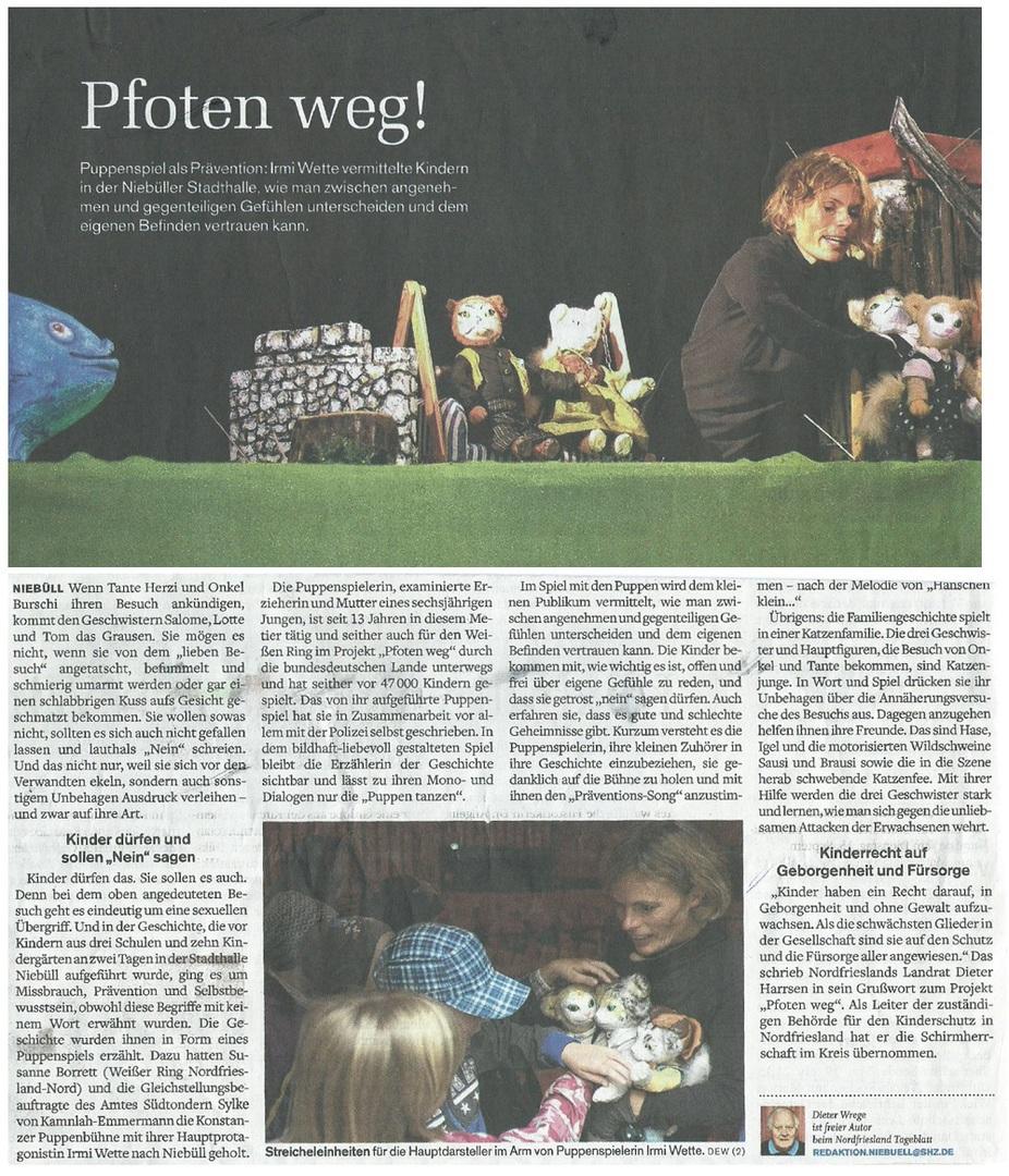 Projekt Pfoten weg in Nordfriesland