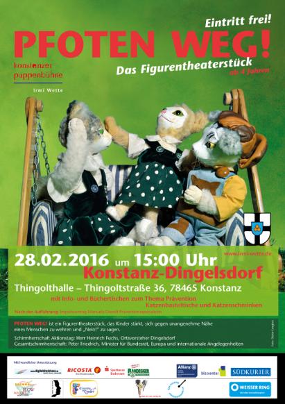 Aktionstag Pfoten weg! in Konstanz-Dingelsdorf im Februar 2016