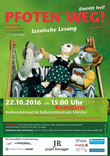 Pfoten weg: szenische Lesung in Konstanz