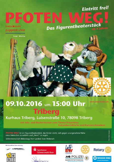 Pfoten-weg-Aktionstag in Triberg im Oktober 2016